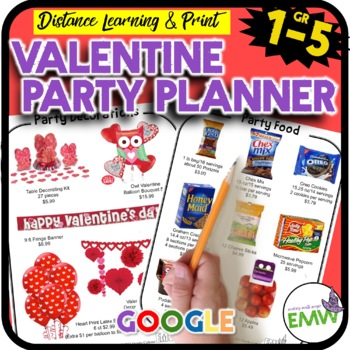 Valentine's Day Math Activity - Party Planning Project
