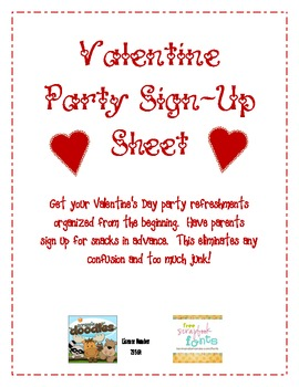 party sign in sheet