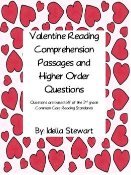 Valentine Passages with Comprehension Questions
