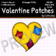 Valentine Patches Clip Art