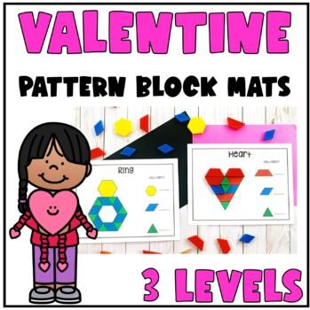 Valentine Pattern Block Mats