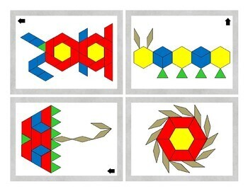 Easter and Spring Pattern Blocks Activity Task Cards and Data Sheets
