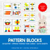 Easter and Spring Pattern Blocks Activity Task Cards and D