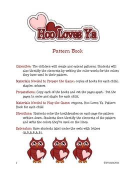 Valentine Pattern Book