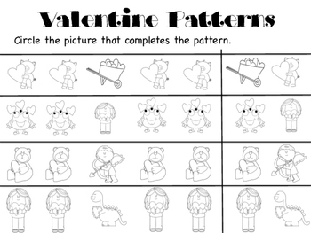 Valentine Pattern Pages