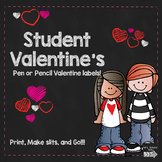 Valentine Pen/Pencil Label