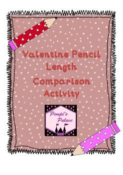 Valentine Pencil Cut and Paste size comparison