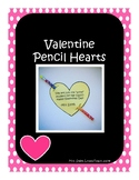 Valentine Pencil Hearts (NOT EDITABLE)