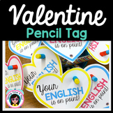 Valentine Pencil Gift Tags