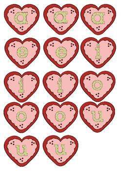 Valentine Penguin Vowels Literacy File Folder Game Short CVC Vowel Words