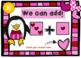 Valentine Penguins Addition to 12 Power Point Game