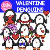 Valentine Penguins Clipart