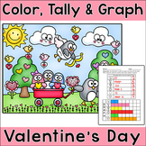 Valentine's Day Activities: Penguins Color, Tally and Graph