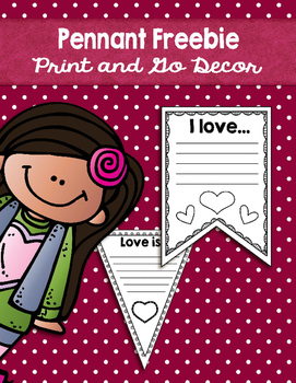 Valentine Pennant Freebie: Print and Go Decor