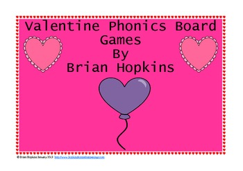Valentine Phonics Board Games