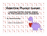 Valentine Phonics Games for Literacy Centers {Aligned to C