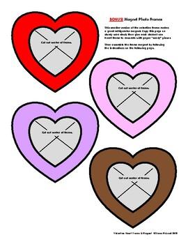 Valentine Photo Frame Heart Craft—Quick & Easy! With BONUS!