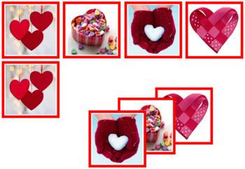 Valentine Photo Matching Cards