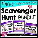 Valentine Photo Scavenger Hunt for Staff: Complete BUNDLE for Principals/Leaders