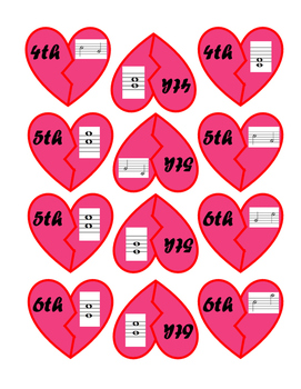 Valentine Piano Game with Intervals