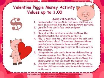 Valentine Piggie Money Matching CC2.MD.8
