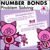 Valentine Piggies Number Bonds Problem Solving Set