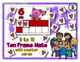 Valentine Piggy - Valentine's Day - Ten Frame Mats 0 to 10