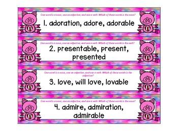 Valentine Piggy ZIP, ZAP, ZOP! Nouns, Verbs, Adjectives