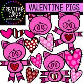Valentine Pigs: Valentine Clipart {Creative Clips Clipart}