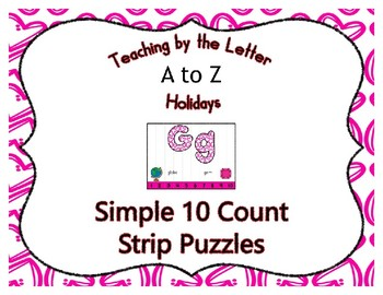 Valentine Pink Hearts ~ Teaching by the Letter Holiday Strip Number Puzzles