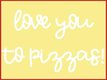 Valentine Pizza Writing Craft