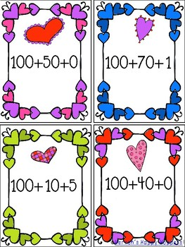 Place Value Valentine Match Up