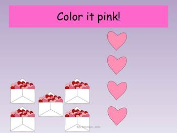 Valentine Place Value - Watch, Think, Color!