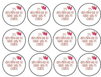 Valentine Playdoh Tags