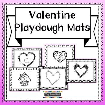 Valentine Playdough Mats