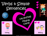 Speech Therapy Valentine Playing Cards for Expanding Sentences