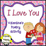 Valentine Poem Activities ~ I Love You