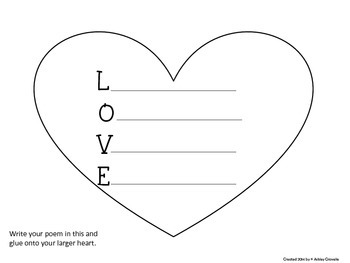 Valentine Poetry Freebie! (Shape & Acrostic Poems)