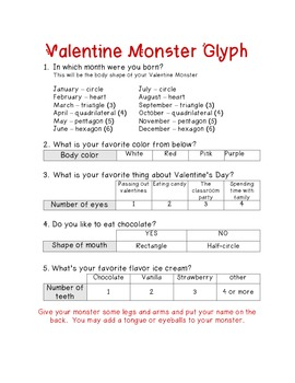 Valentine Polygon Monster Glyph
