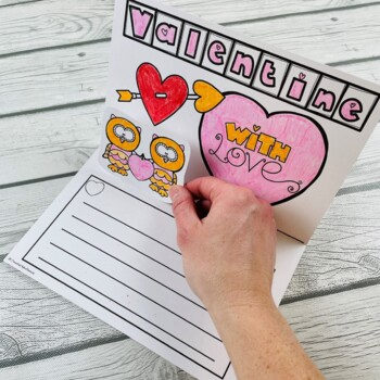 Valentine Pop Up Cards (Valentine's Day Writing Activity)