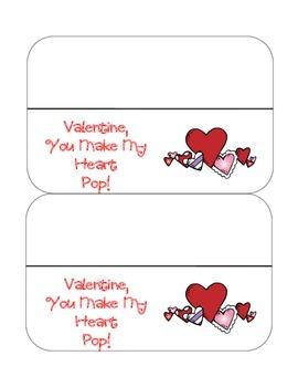 Valentine Popcorn bag topper