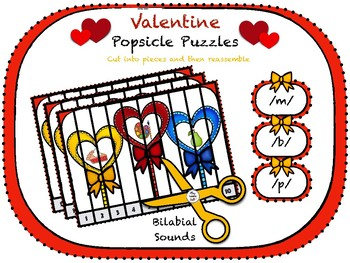 Valentine Popsicle Puzzles - Bilabials