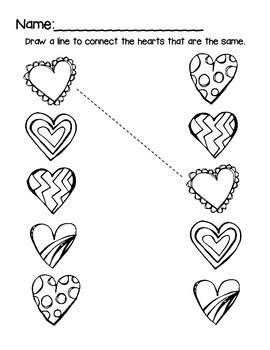 Valentine Pre-K Math Worksheet Freebie! by Early Childhood Extras