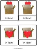 Valentine Preposition 3 Part Cards