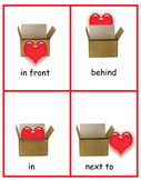 Valentine Preposition Cards and Writing Worksheets