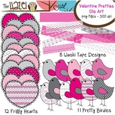 Valentine Pretties {Hearts, Birds, & Washi Tape}: Clip Art