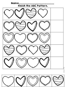 Valentine Print and Go for Pre-K and Kindergarten