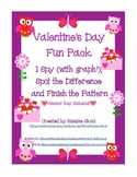 Valentine Printable Pack: I Spy, Pattern Fun and More!