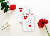 Valentine Printable, Party Tags, Classroom Party - Valentine Bear Gift Tags