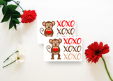 Valentine Printable, Party Tags, Classroom Party - Valentine Monkey Gift Tags